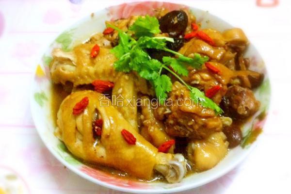香菇瑤柱蒸雞