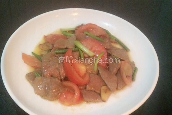 番茄炒猪肝