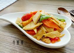 三椒杏鲍菇炒肉