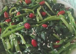 花生芝麻炒菠菜