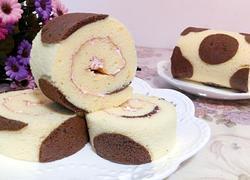 奶牛花纹蛋糕卷