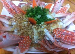 蒜蓉蒸花蟹