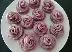 玫瑰花紫薯馒头