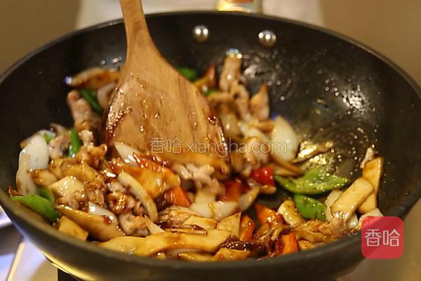 杏鲍菇炒做法的蛏子_肉片辣炒家常菜谱做法图片