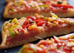 薄底脆皮火腿pizza