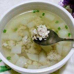 白萝卜丸子汤的做法[图]