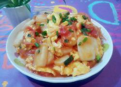 西红柿鸡蛋炒年糕