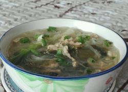 酸菜肉丝粉丝汤
