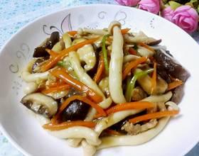 蚝油双菇肉片