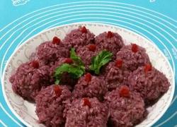 紫薯糯米肉丸