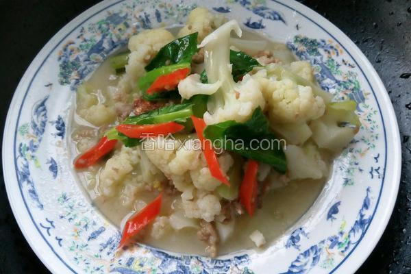 肉沫花椰菜