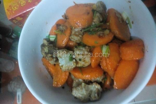排骨燜胡萝卜