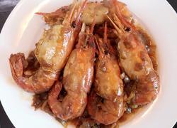 干葱焖大虾