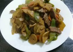 牛肉炒杏鲍菇土豆干