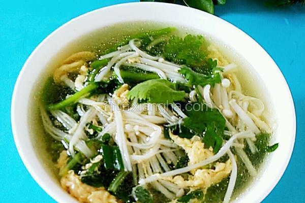 西洋菜金针菇蛋花汤