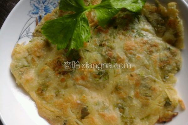 芹菜叶土豆丝煎饼