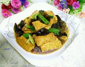 木耳烧豆腐[图]