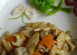 滑溜肉片炒藕