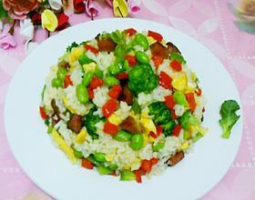 彩蔬腊味炒饭