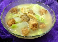 萝卜丸子白菜汤