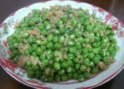 豌豆炒肉末