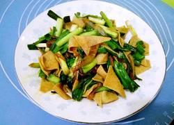 豆皮炒青蒜