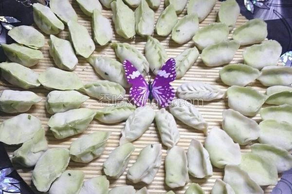 菠菜双色水饺