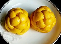 南瓜绣球豆沙包