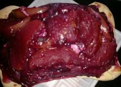 苹果棕心紫薯派