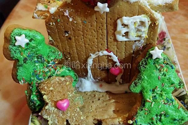 圣诞饼干糖果屋