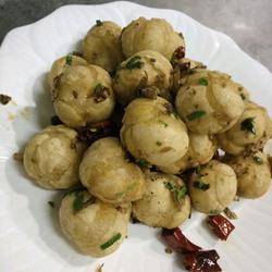 盐酸菜炒汤圆