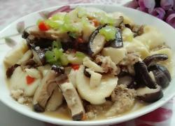 肉末蘑菇烧日本豆腐