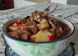 素菜牛肉砂锅