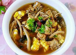茶树菇玉米龙骨汤