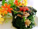 香拌核桃菠菜塔的做法[图]