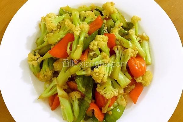 清炒有机花菜