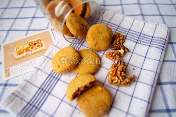 红糖肉桂核桃饼
