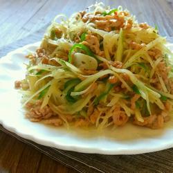 青椒土豆炒肉丝