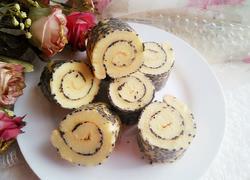 黑芝麻蛋糕卷