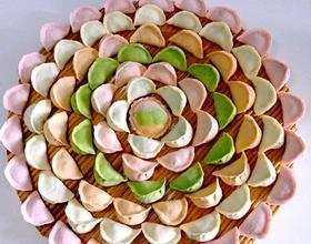 肉三鲜五彩饺子