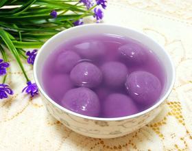 紫薯豆沙汤圆[图]