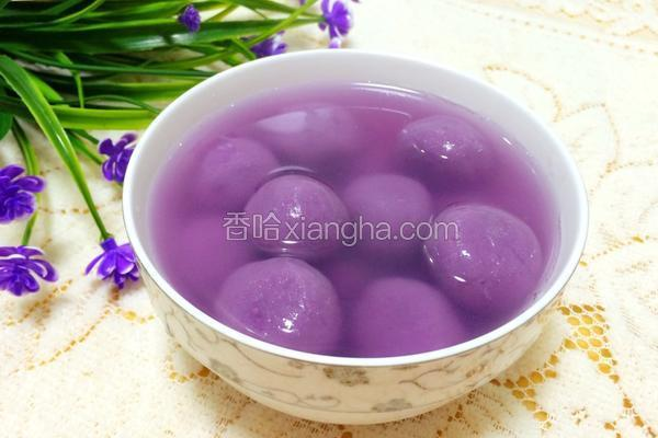 紫薯豆沙汤圆