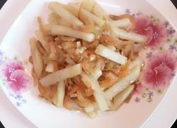 蒜蓉虾米炒芥菜头
