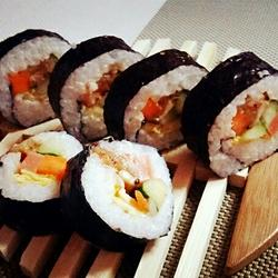 辣白菜寿司卷的做法[图]