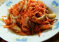 肉炒红萝卜