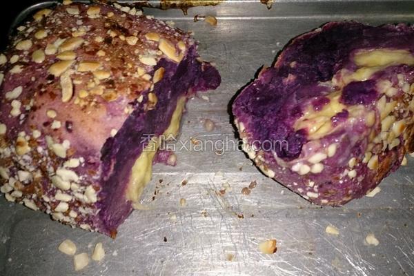 哈康面包(香蕉紫薯泥软欧)