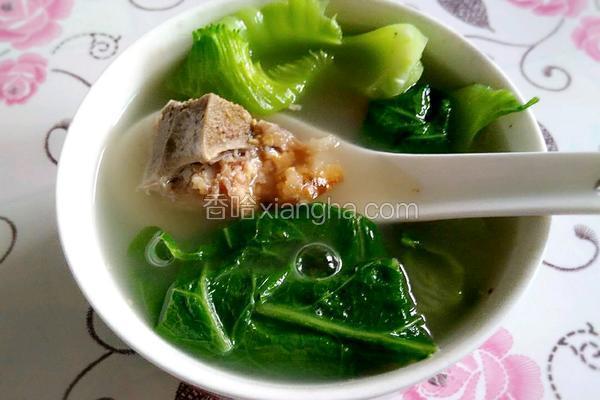烧骨芥菜汤