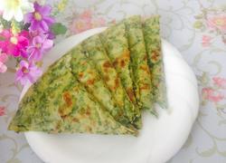 芹菜叶子鸡蛋饼