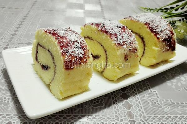 蓝莓蛋糕卷