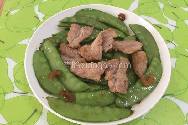 荷兰豆炒肉片